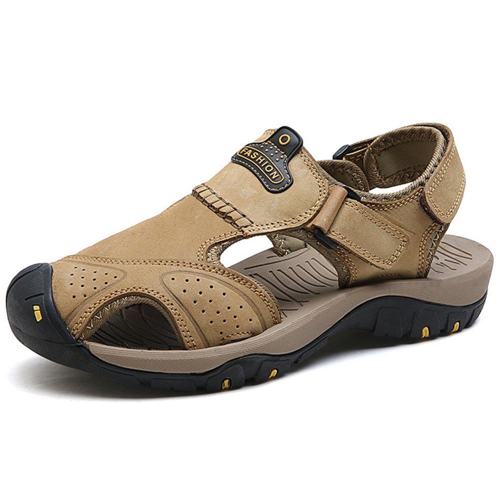 Manner Outdoor Grosse Grosse Closed Toe Strand Leder Schuhe Echtes