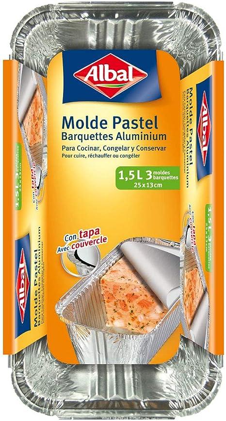 Albal - Molde de aluminio - Capacidad de 1.5 l - 1 unidad: Amazon ...