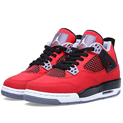 Air Jordan 4 Retro (GS) Toro Bravo (Fire red/White-Cement