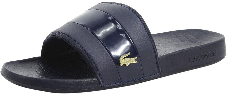 83dd5e947  Lacoste Fraisier Navy Gold Mens Beach Summer Flip Flops  Amazon.co.uk   Shoes   Bags