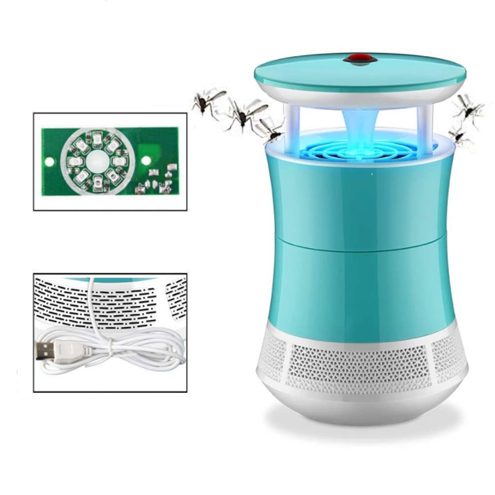 bluee LED Photocatalyst Mosquito Killer Lamp Home Indoor Baby Mosquito Artifact Bedroom Lnsect Repeller Mosquitoes Lnhaler Indoor Outdoor USB Mosquito Trap,bluee