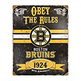 Party Animal NHL Boston Bruins Vintage Metal Sign