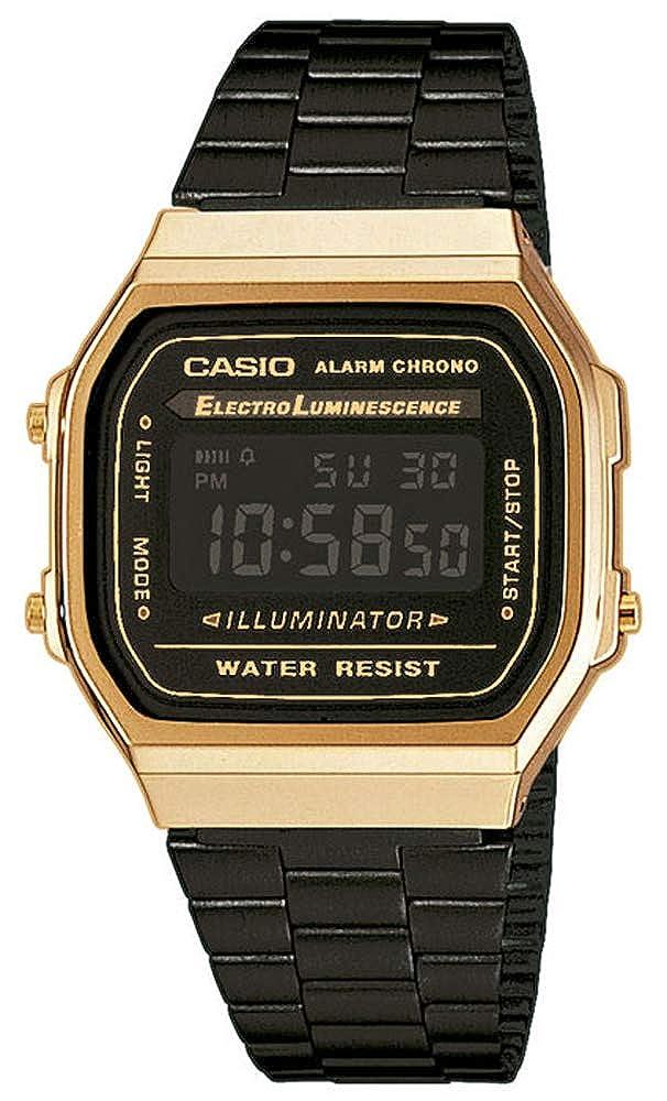4ae97da9c78 Amazon.com  Casio Unisex A168WEGB-1BVT Watch Gold Blk  Watches