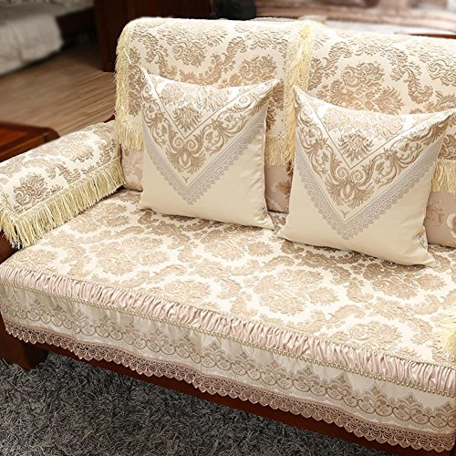 Contemporary Chinese sofa cushions Luxury sofa towel solid wood sofa cushion B 80x180cm(31x71inch) by Sofa towel