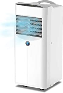 JHS 10,000 BTU Portable Air Conditioner 3-in-1 Floor AC Unit with 2 Fan Speeds, Remote Control and Digital LED Display, Cover up to 300 Sq. Ft