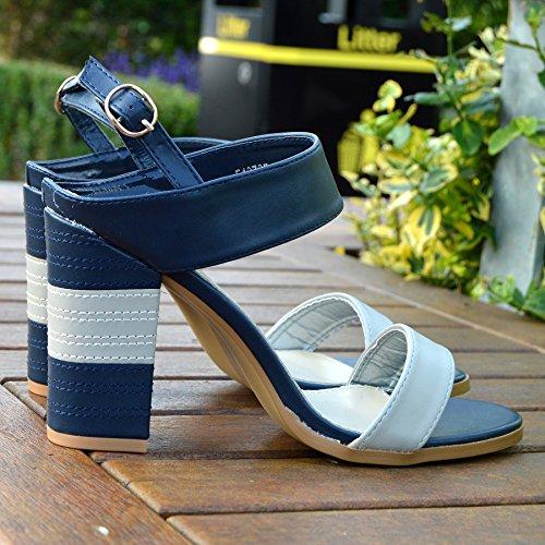 Peep Multicolore Sandali Kick Donna Con Tacco Estivi Coste Multicolor Da Calzature A Sq87wfF7x