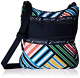 Nautica Quarters Rip Stop Women's Crossbody Bag, Panner Stripe
