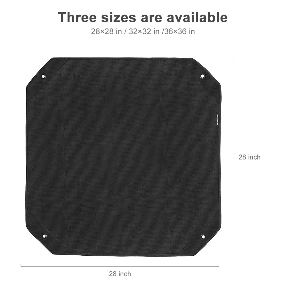 Air Conditioner Top Cover for Outside AC Unit 32x32 inch Black Alritz Waterproof Oxford Leaf Guard AC Defender
