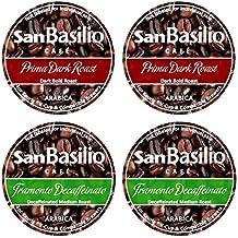 K cups Coffee by San Basilio 96 Mix Family Pack 48 Dark + 48 Decaf 100% Arabica Coffee (96 Pack)