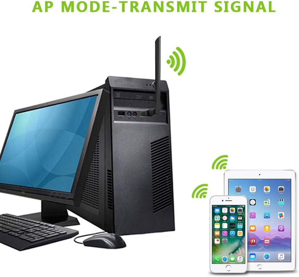 802.11 ac//a//b//g//n 5dBi High Gain Antenna for Windows XP//7//8//10,MAC,OSX FayTun USB 3.0 WiFi Dongle Dual Band 2.4GHz//300Mbps+5GHz//867Mbps 1200Mbps Wireless USB WiFi Adapter