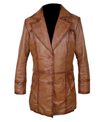 Dawn Leather Justice F Genuine Men's At Waxed Sheepskin amp;h Of Coat AwSTY