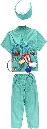 niños médico Cirujano Disfraz Traje, Tops, Pantalones, Sombrero ...