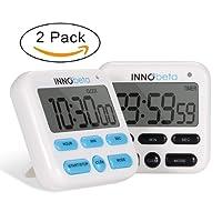 InnoBeta Minuterie de cuisine numérique, minuterie de cuisine Premium, chronomètre compte à rebours et compte à rebours, mode horloge, mode réveil, volume réglable, facile à utiliser
