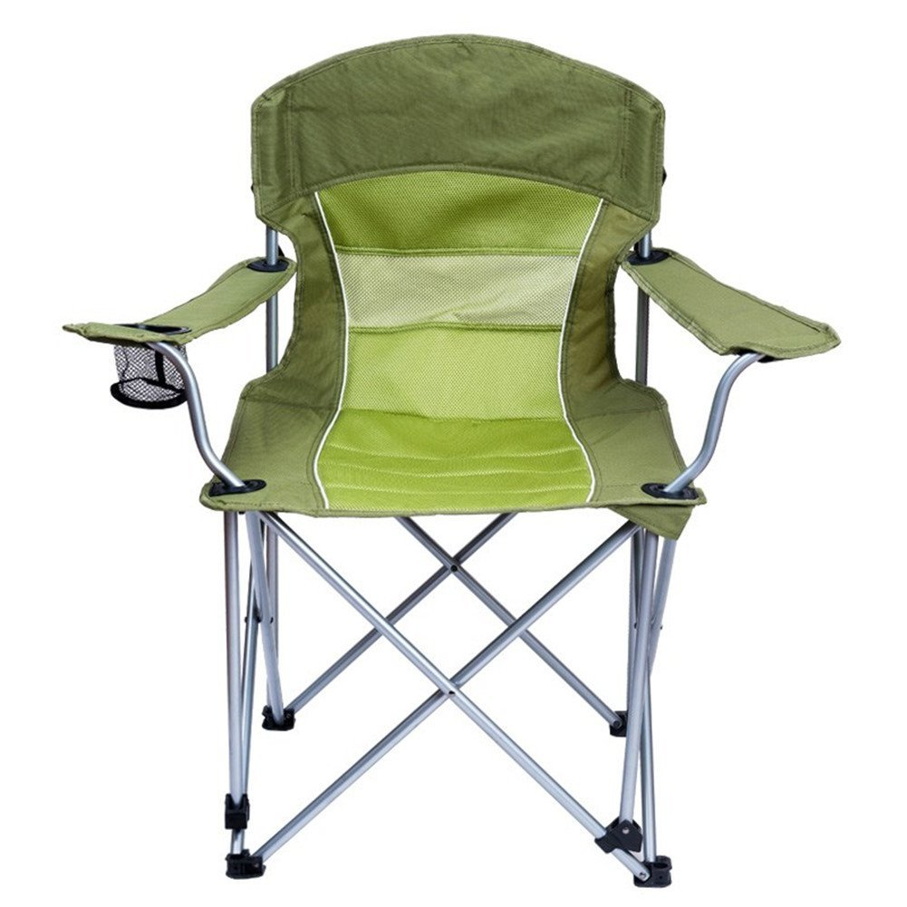 LELI Portable Folding Stuhl,Strand Stuhl,Camping-stühle,Leichtes Gewicht mit Rückenlehne Hohe Tragfähigkeit Stuhl Outdoor Angeln Wanderer-grün 57x49x97cm(22x19x38inch)