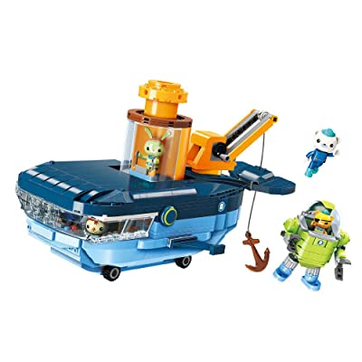 Enlighten Octonauts GUP-C Blue Whale Vehicle & Barnacles Kwazii Tweak 630pcs Building Block Set-Without Original Box: Toys & Games