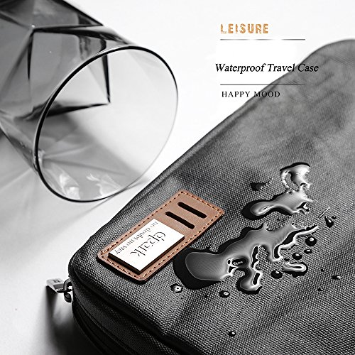 Leather Prower Cord Travel Bag
