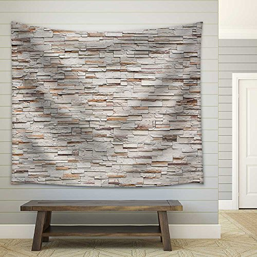 Pattern of Decorative Stone Wall Background Fabric Wall Tapestry
