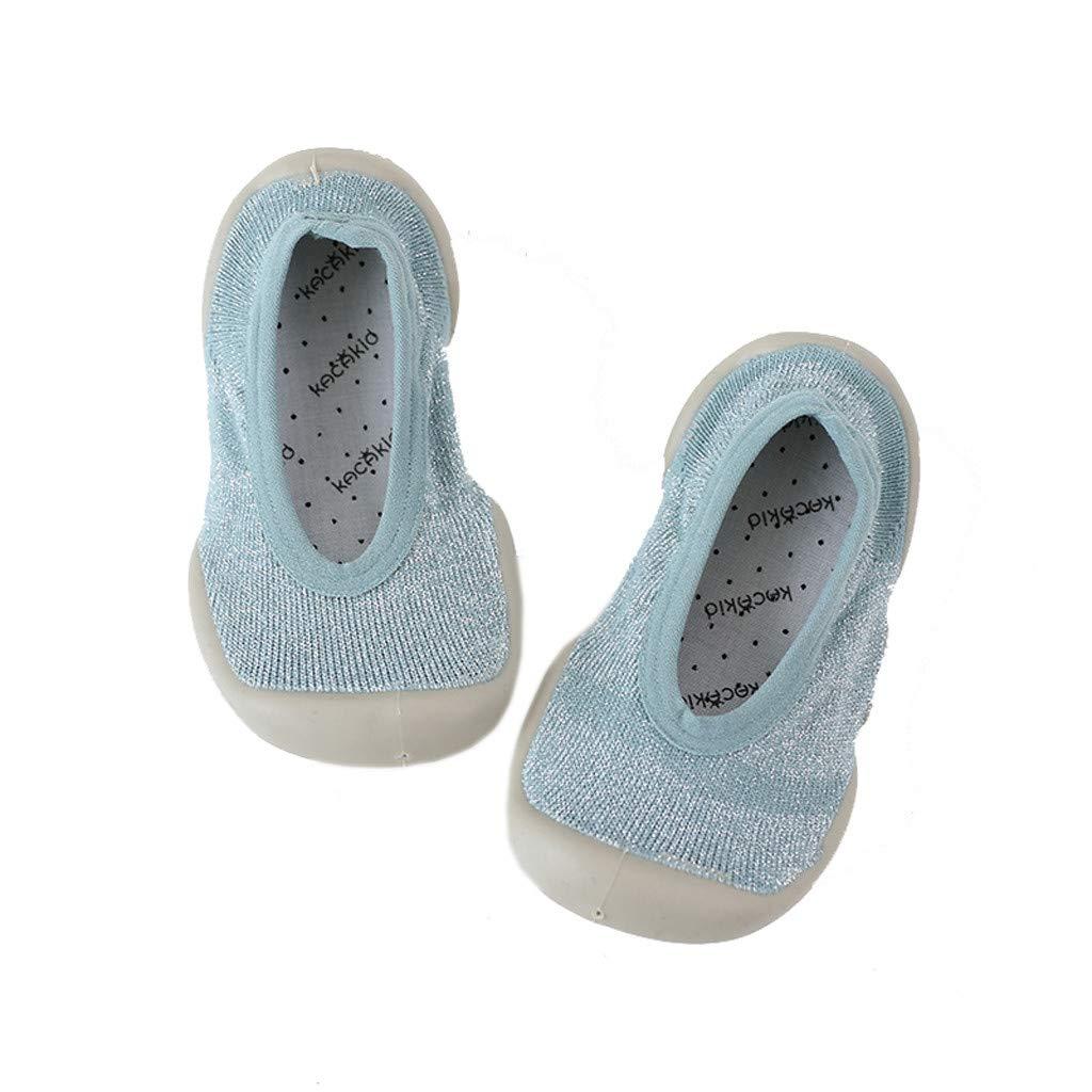 Lanhui Infant Toddler Baby Girls Shoes Solid Winter Warm Prewalker Socks Shoes