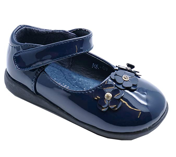 2b9f475a36 HeelzSoHigh Girls Kids Childrens Navy Patent Infant Slip-On Cute Dolly  Shoes Pumps Sizes 4-8: Amazon.co.uk: Shoes & Bags