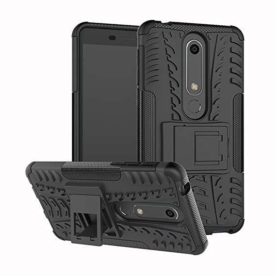 new product a4fc2 73a50 Nokia 6.1 Case,Nokia 6 2018 Case,Mustaner Dual Layer Shock-Absorption Armor  Cover Full-body Protective Case with Kickstand for Nokia 6 (2018) 5.5 Inch  ...