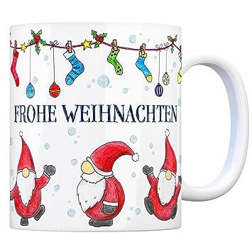 trendaffe - Kaffeebecher mit Weihnachtsmann Motiv und Spruch: Frohe ...