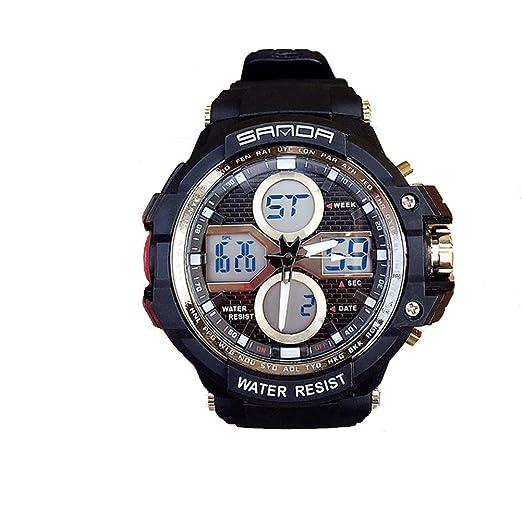 Reloj unisex,Reloj digital electrónico multifunción luminoso diseño de moda impermeable al aire libre y deportes de interior-B: Amazon.es: Relojes