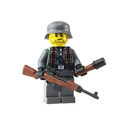 Battle Brick German G43 WW2 Soldier (SKU78) Custom Minifigure: Toys & Games