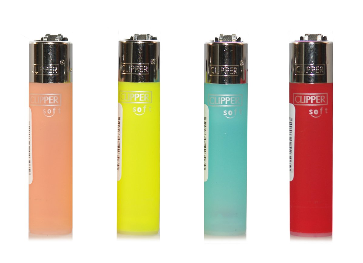 Clipper 47, Translucent Soft Touch Collection, Pack of 4 Lighters FLAMAGAS