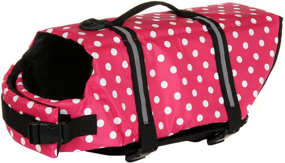 Woo Woo Pets Dog Life Jacket Adjustable Dog Life Preserver