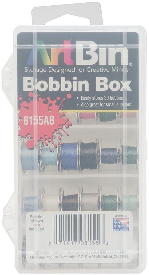 Amazoncom ArtBin Bobbin Box Clear Sewing Storage Container 8155AB