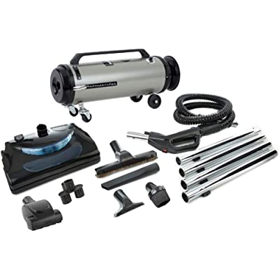 MetroVac 104-578567 Model ADM4PNHSNBFVT Professional Evolution With Electric Power Nozzle Variable Speed Full-Size Canister Vacuum, 4.0 Peak HP Twin Fan Motor, 13 Amps, 1560 Watts, 130 CFM Airflow: Kitchen & Dining [5Bkhe1514846]