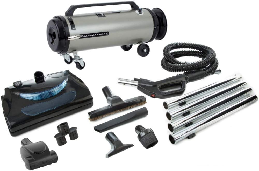 MetroVac 104-578567 Model ADM4PNHSNBFVT Professional Evolution With Electric Power Nozzle Variable Speed Full-Size Canister Vacuum, 4.0 Peak HP Twin Fan Motor, 13 Amps, 1560 Watts, 130 CFM Airflow