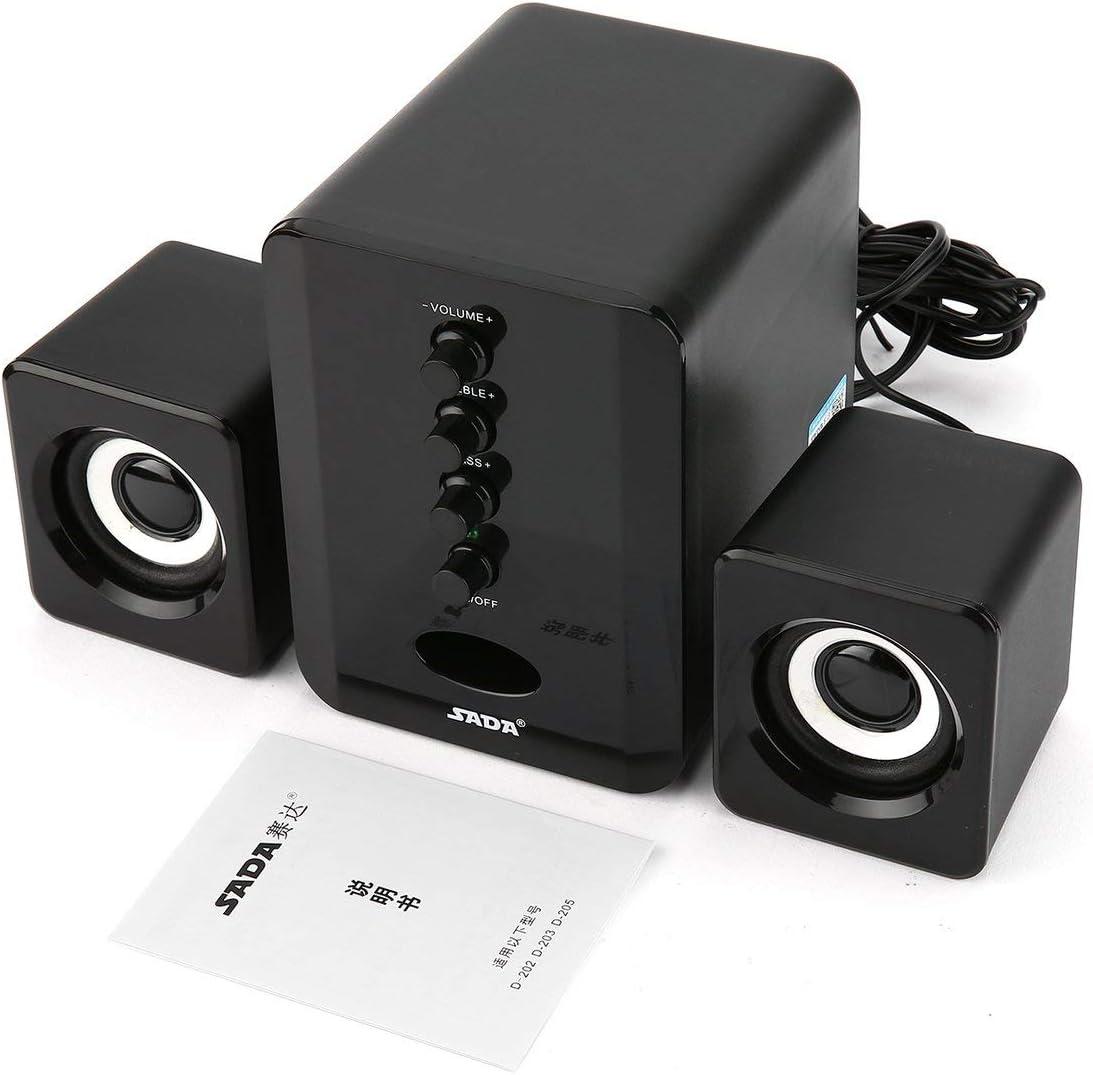 SADA D-205 BT Stereo Computer Speaker Desktop USB Multimedia Subwoofer Laptop PC