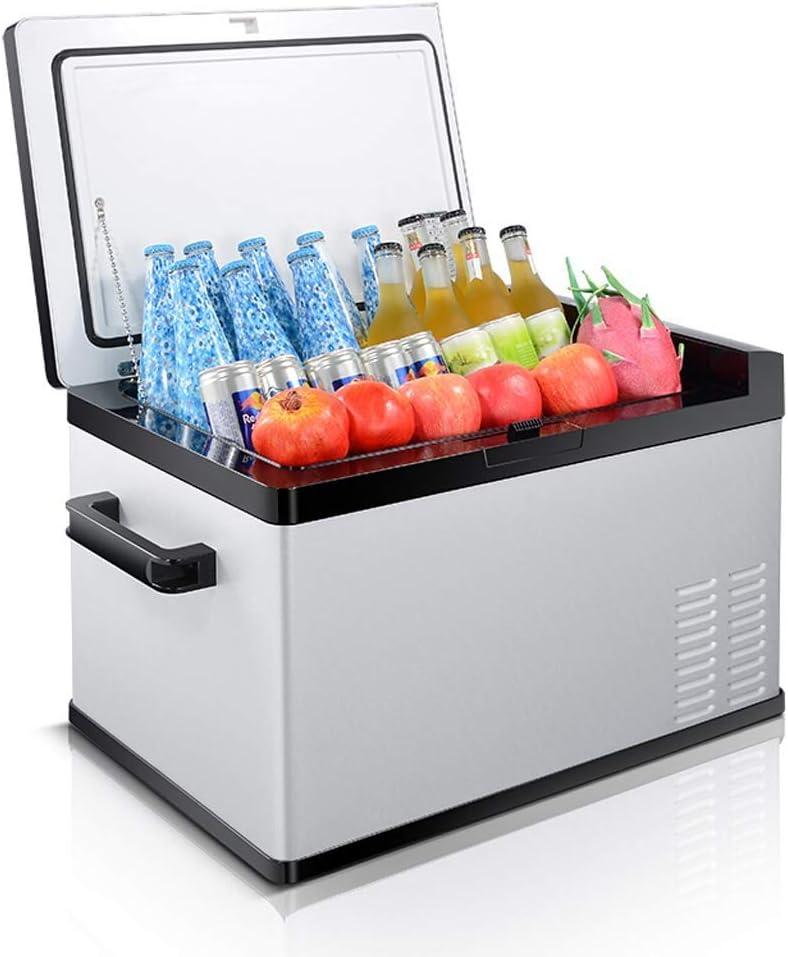 XQY Frigorífico-litro portátil con pantalla digital Compresor Frigorífico congelador, 12 V / 24 V / 220V - Gris/Negro,30L