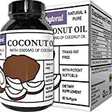 Pure Coconut Oil Softgels Extra Virgin – Diet Supplement + Appetite Suppressant – Weight Loss + Fat Burner – Healthy Skin Care + Hair Care – 100% Natural Softgels – For Men & Women For Sale