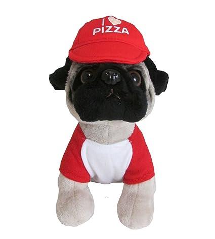 Amazon Com Doug The Pug Pizza Pug Mini Stuffed Animal 6 Toys Games