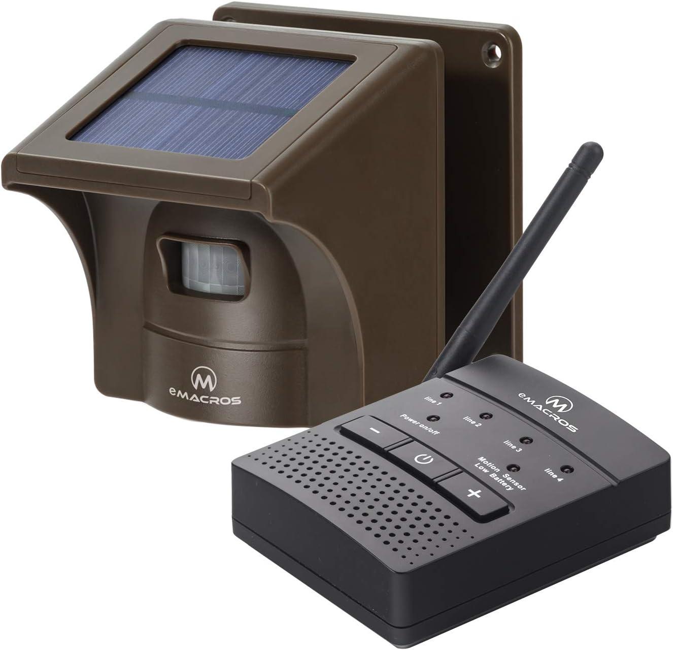 1/4 Mile Solar Driveway Alarm Sytem Wireless Long Range Outdoor Weather Resistant Motion Sensor & Detector- Driveway Alarms Wireless Outside Monitor & Protect