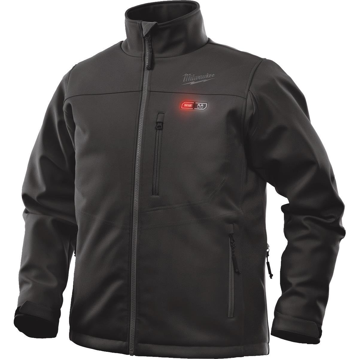 Milwaukee Jacket KIT M12 12V Lithium-Ion Heated Front and Back Heat Zones All Sizes and Colors - Battery and Charger Included (Extra Large, Black)