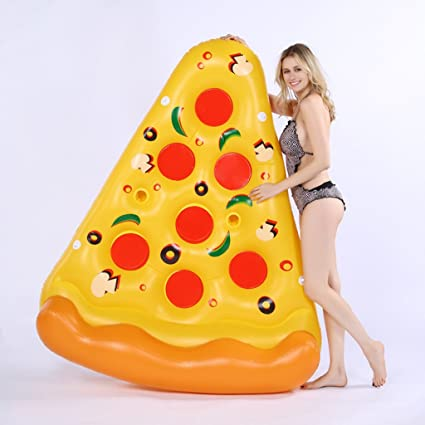 TGDY Inflables Piscina Flotador Raft Pizza Forma Tumbonas Gigantes Verano Flotadores Al Aire Libre Playa Agua