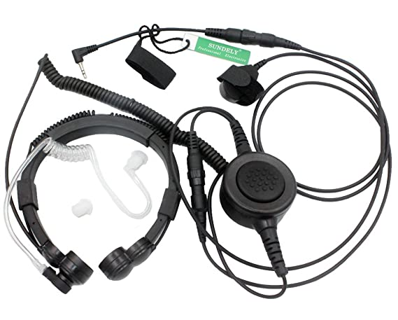 Amazon Com Sundely Military Grade Tactical Throat Mic Headset