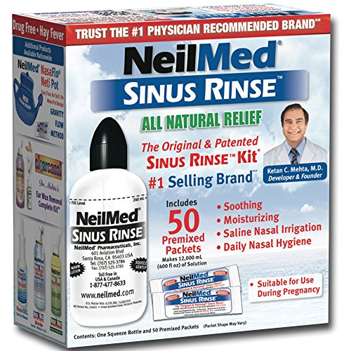 Sinus Rinse System (Neilmed Sinus Rinse Kit 50 count  (Pack of 2))