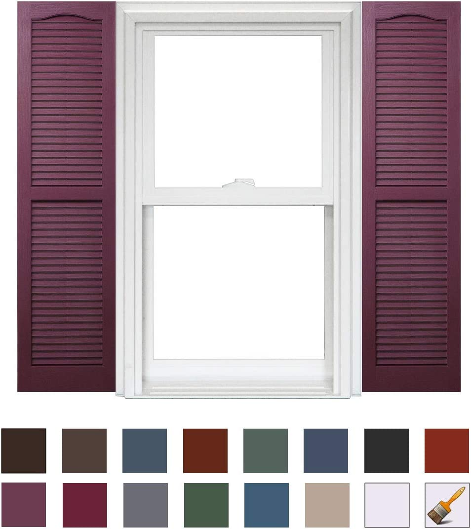 Homeside Open Louver Shutter 1 Pair 14-1//2in 990 Paintable x 25in
