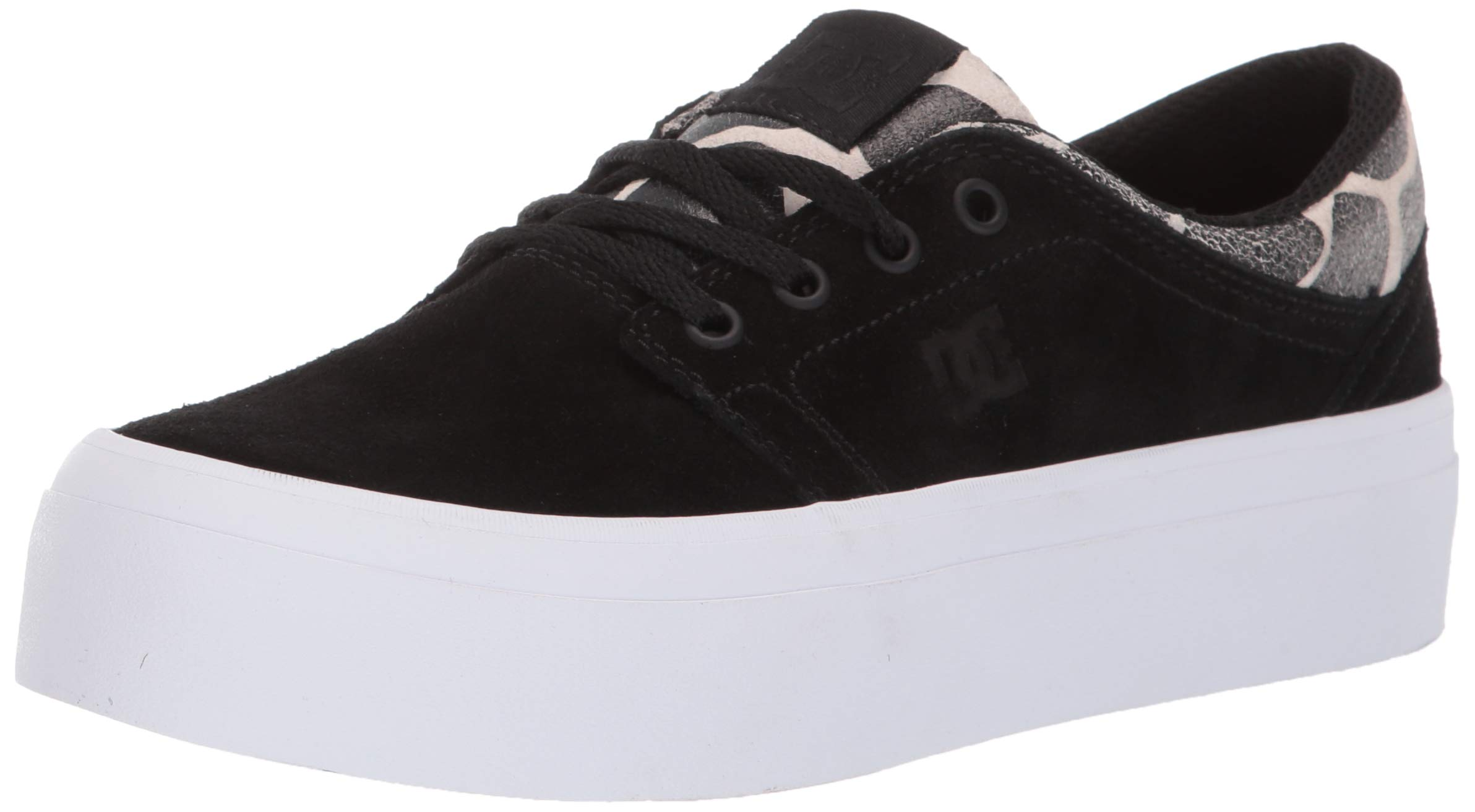DC Women's Trase Platform SE Skate Shoe, Black/tan, 8 M US by DC