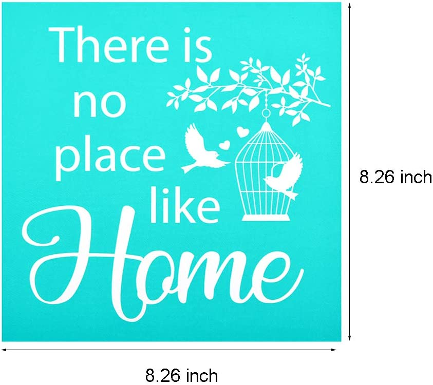 T-Shirt Reusable Stencils Painting on Wood Phrase Sign Pattern for DIY Home Decor YeulionCraft DIY Self-Adhesive Silk Screen Printing Stencil Gecko Pillow Fabric