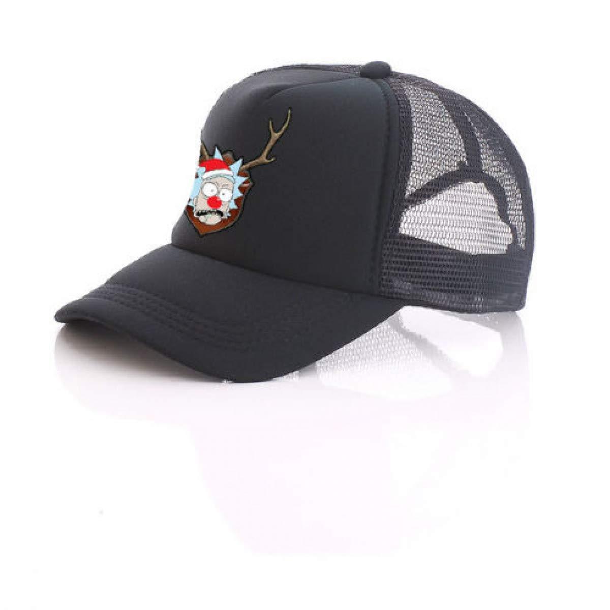 Amazon.com: HOMZE and Morty Pickle Rick Christmas Rick Printing Black Mesh Trucker Cap Baseball Cap Cartoon Hat Cosplay Costume Unisex Cool C: Home & ...