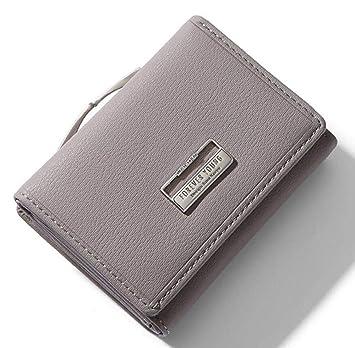 Billetera De Mujer Señoras Carteras con Clip Coin Pocket ...
