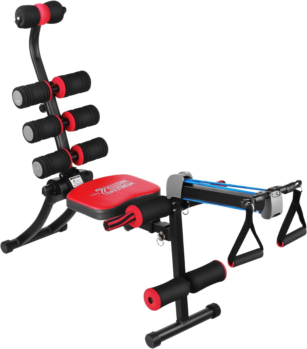 Total Body Gym Machine, Abs & Core Workout Equipment, Twister Exercise Trainer Fitness Equipment at Home with Rowing Machine