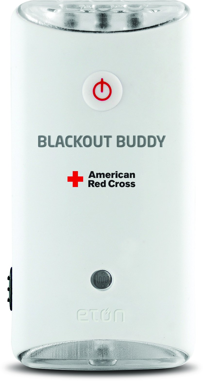 American Red Cross Blackout Buddy the Emergency LED Flashlight, Blackout Alert and Nightlight, Lights Up Automatically When There is a Power Failure, ARCBB200W-SNG