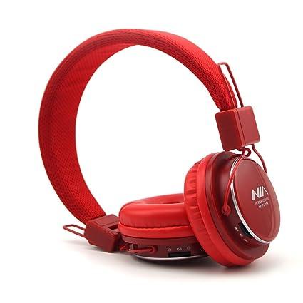 GranVela A809 Auriculares De Diadema Plegables Con Entrada Micro SD Para Reproducir Música, Radio FM