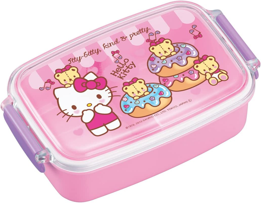 New SANRIO HELLO KITTY LUNCH CONTAINER CASE W//SPOON FORK LOVELY Licensed